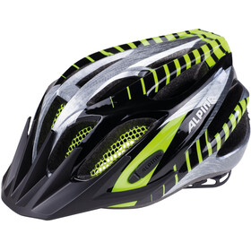 Alpina FB Jr. 2.0 Fietshelm Jongeren, black-steelgrey-neon